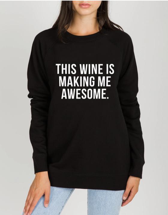 BRUNETTE Wine Sweater