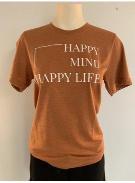 "Saltwater Designs Saltwater Designs ""Happy Mind Happy Life"" T-Shirt"