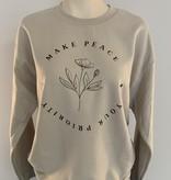 "Saltwater Designs Saltwater Designs ""Make Peace"" Sweater"