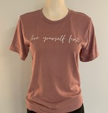 "Saltwater Designs Saltwater Designs ""Love Yourself First"" T-Shirt"