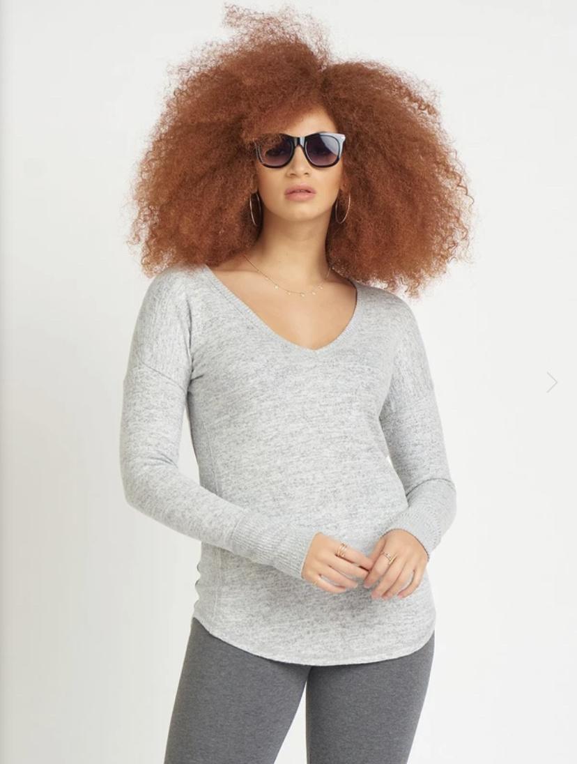 Dex Dex - Rounded Hem Sweater