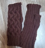 Hand Knit Fingerless Gloves - Hand Wash Cold Water