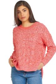 Dex Dex - Cable Knit Tunic Sweater