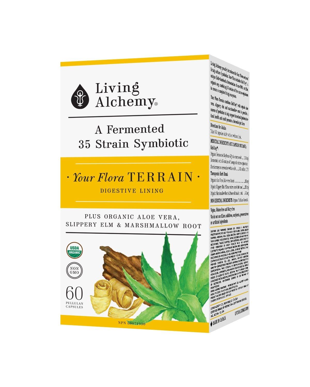 Living Alchemy Your Flora Terrain - 60 vcaps