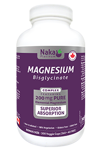 Naka Magnesium Bisglycinate complex 200mg - 300vcaps