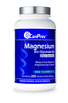 CanPrev Magnesium Bis-Glycinate 80 ultra Gentle - 240 v-caps
