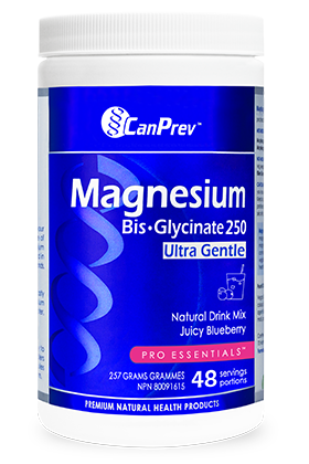CanPrev Magnesium Bis-Glycinate Drink mix blueberry - 257g