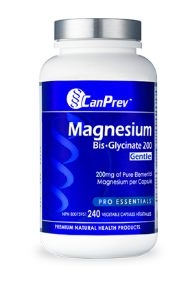 CanPrev Magnesium Bis-Glycinate 200 Gentle - 240 v-caps