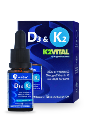 CanPrev D3 & K2 Drops, MCT base - 15 ml