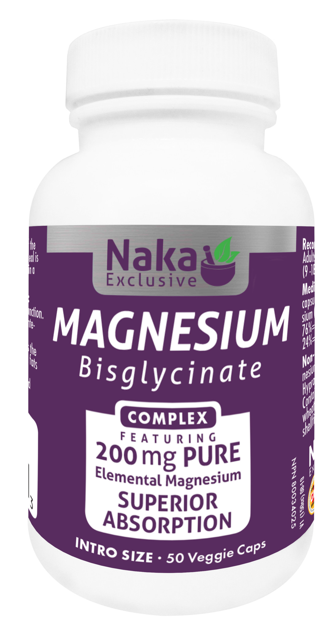 Naka Magnesium Bisglycinate complex 200mg - 50vcaps