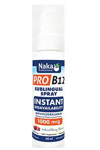 Naka Pro B12 Sublingual Spray 1000mcg - 60ml