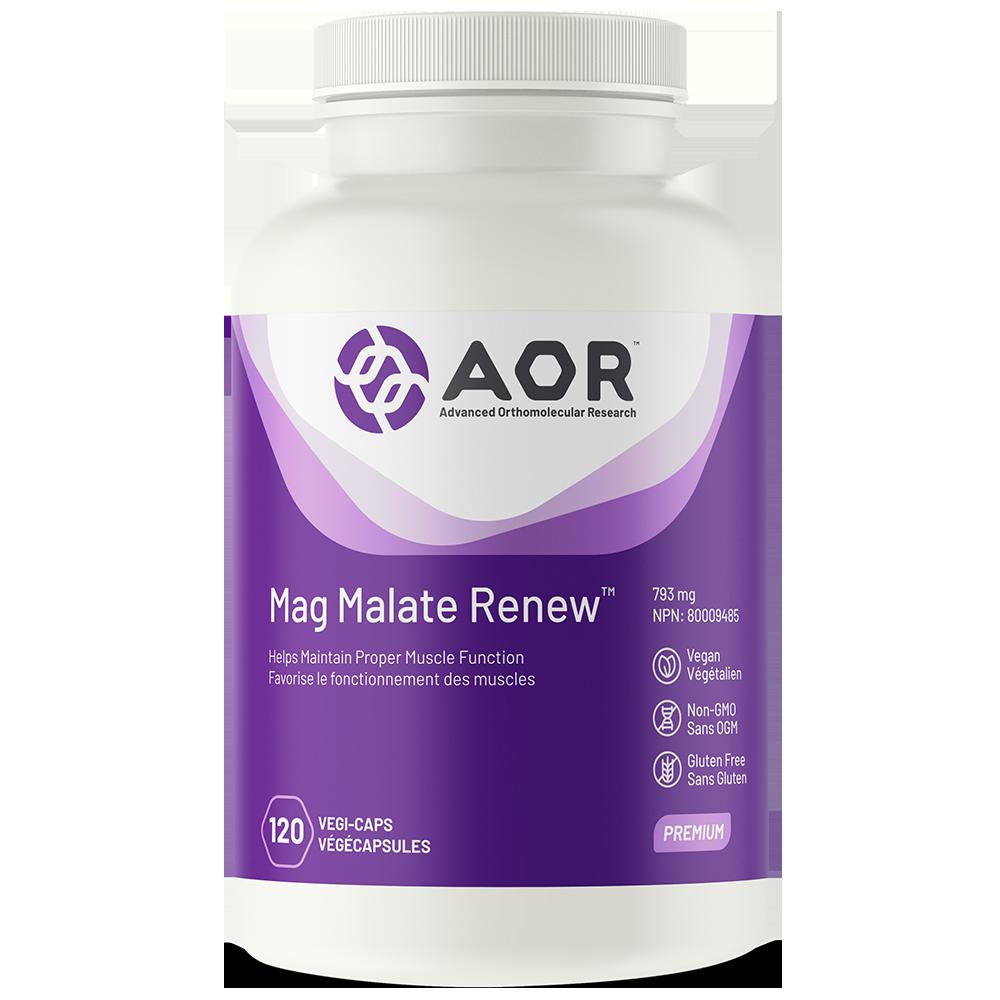 AOR Mag Malate Renew 793 mg - 240 vegi-caps