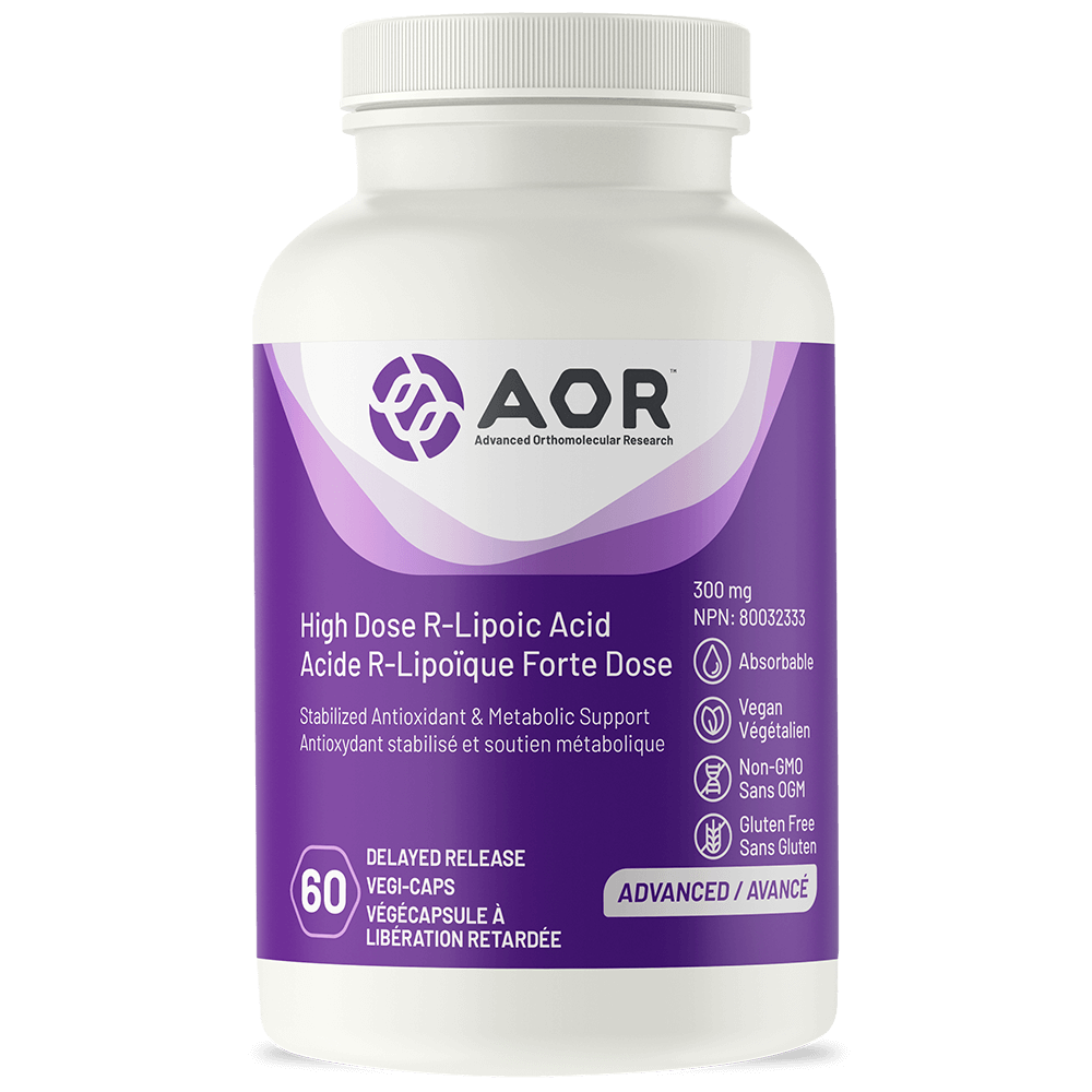 AOR High Dose R-Lipoic Acid 300 mg - 60 vegi-caps