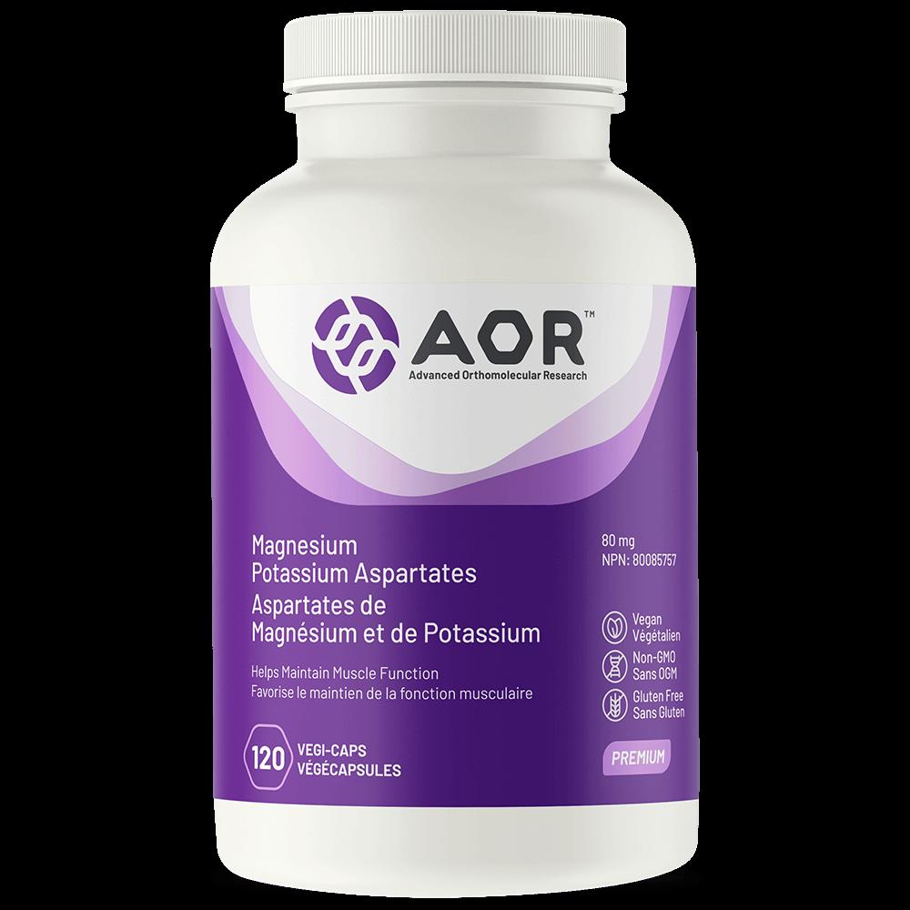 AOR Magnesium/Potassium Aspartates 80 mg - 120 vegi-caps