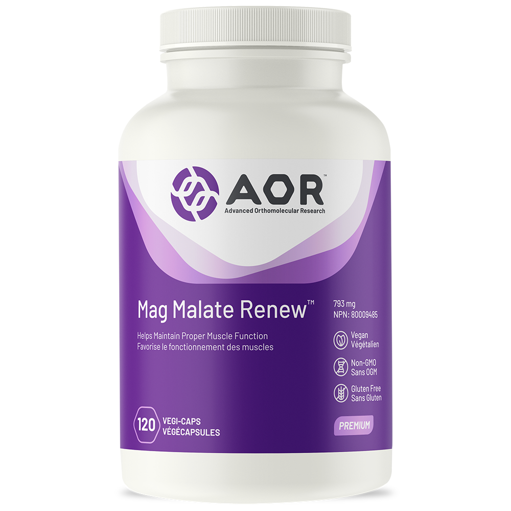 AOR Mag Malate Renew 793 mg - 120 vegi-caps