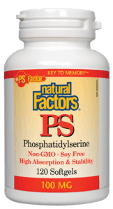 Natural Factors PS Phosphatidylserine 100 mg – 120 softgels