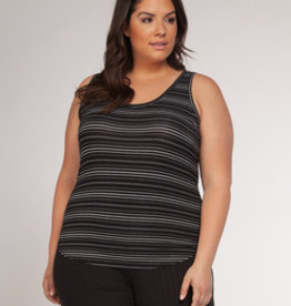 DEX BLACK/WHITE STRIPE TANK 1574702