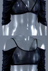 Sleevey Wonders 20403 BLACK MESH WATERFALL