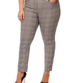DEX DEX BURGANDY CHECK PANT 1472850