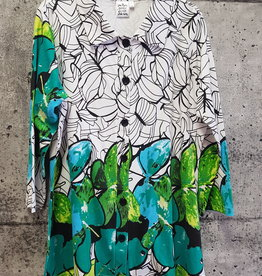 Parsley and Sage GREEN FLORAL SHIRT 20T92G1