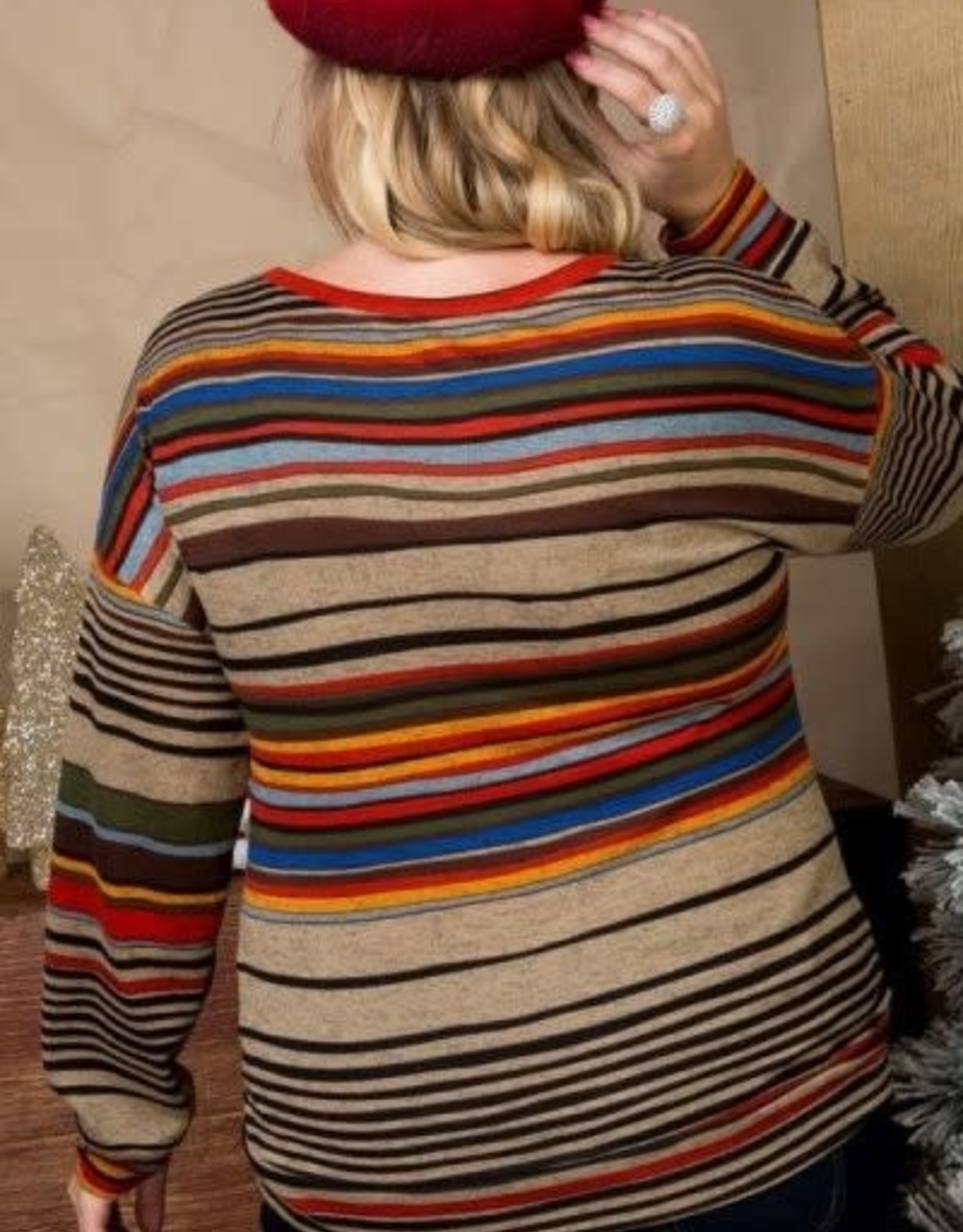 MISCELLANEOUS MOCHA FRONT KNOT SHORT SWEATER