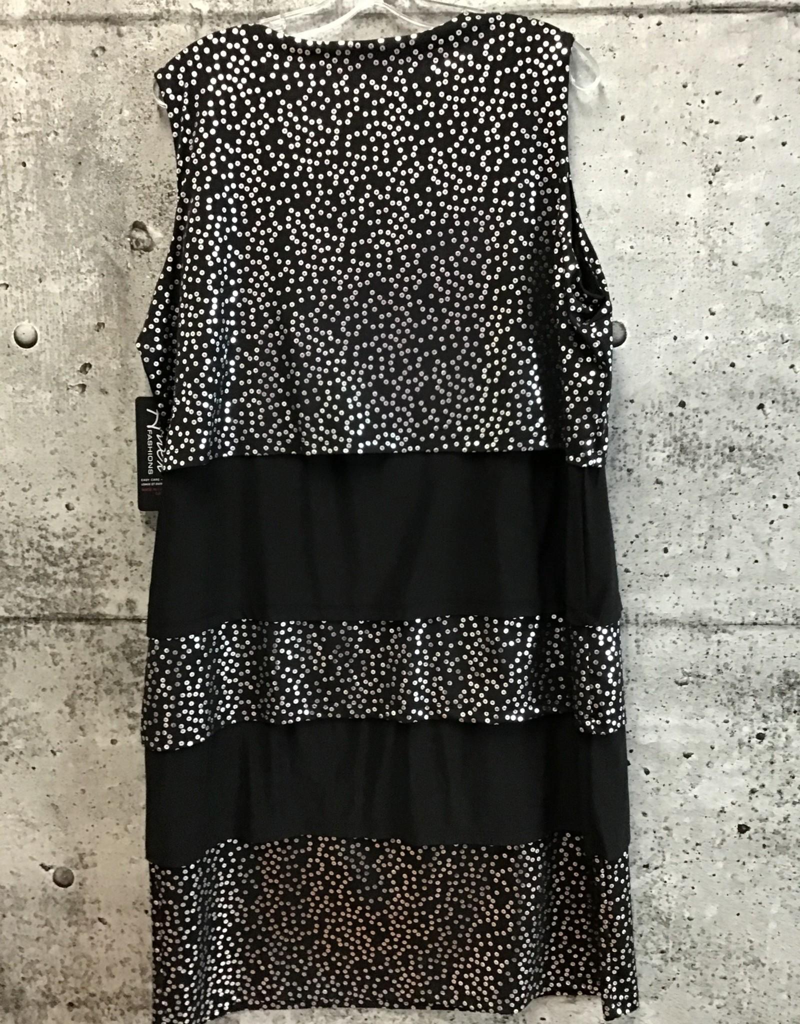 Artex FAUX SEQUIN LAYERED DRESS 6052