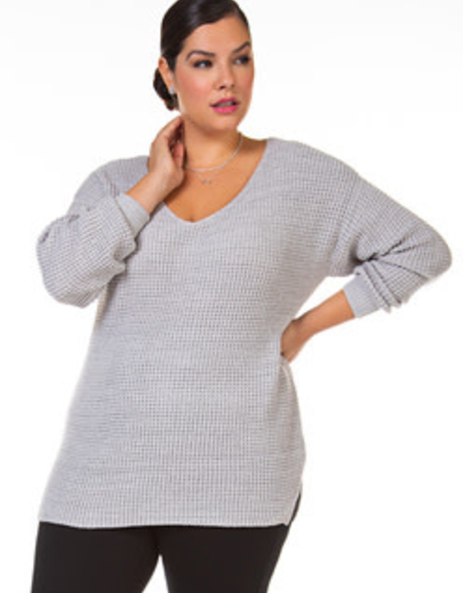DEX V NECK SWEATER BONE 1677013