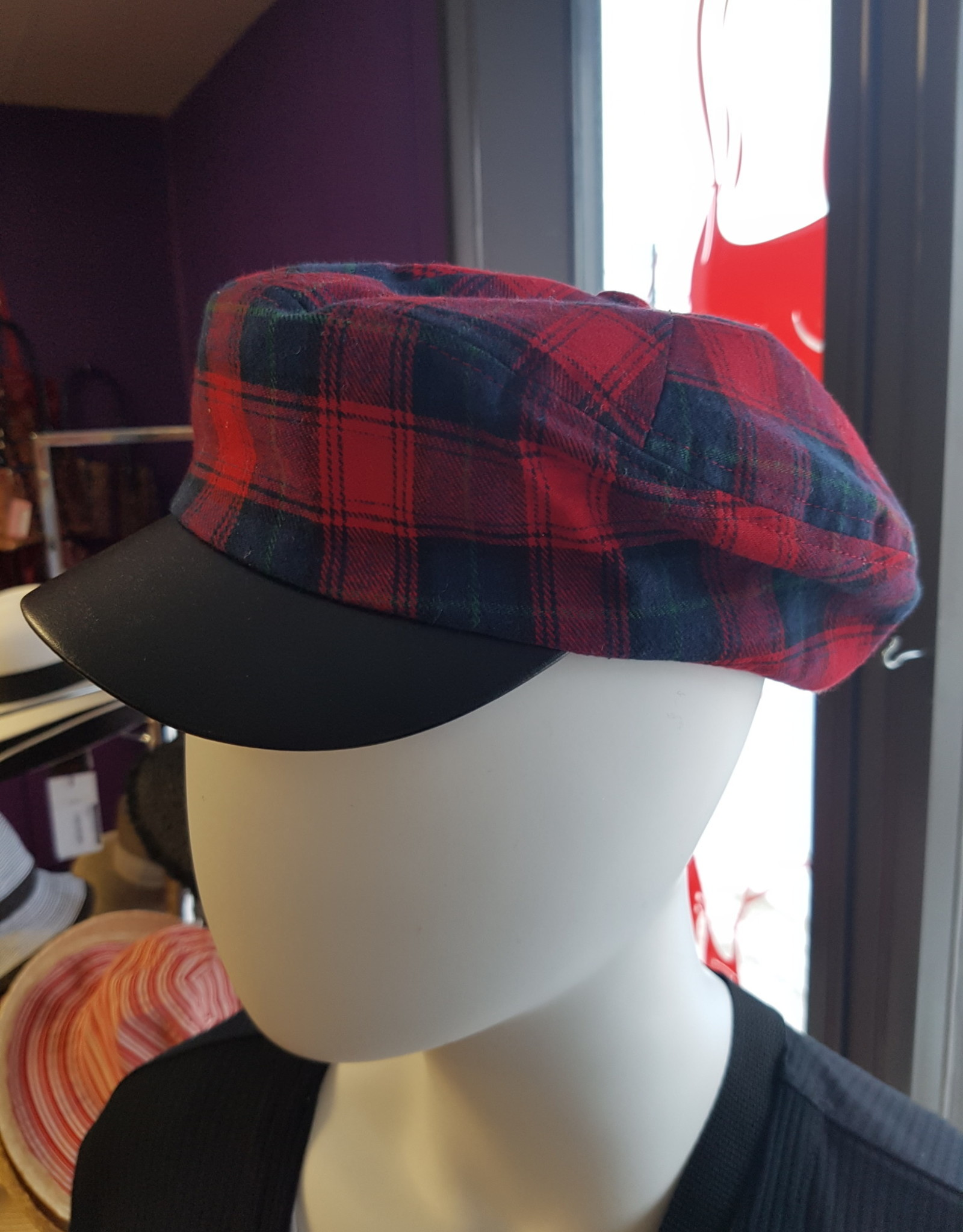 Canadian Hat NANCY NEWSBOY TARTAN