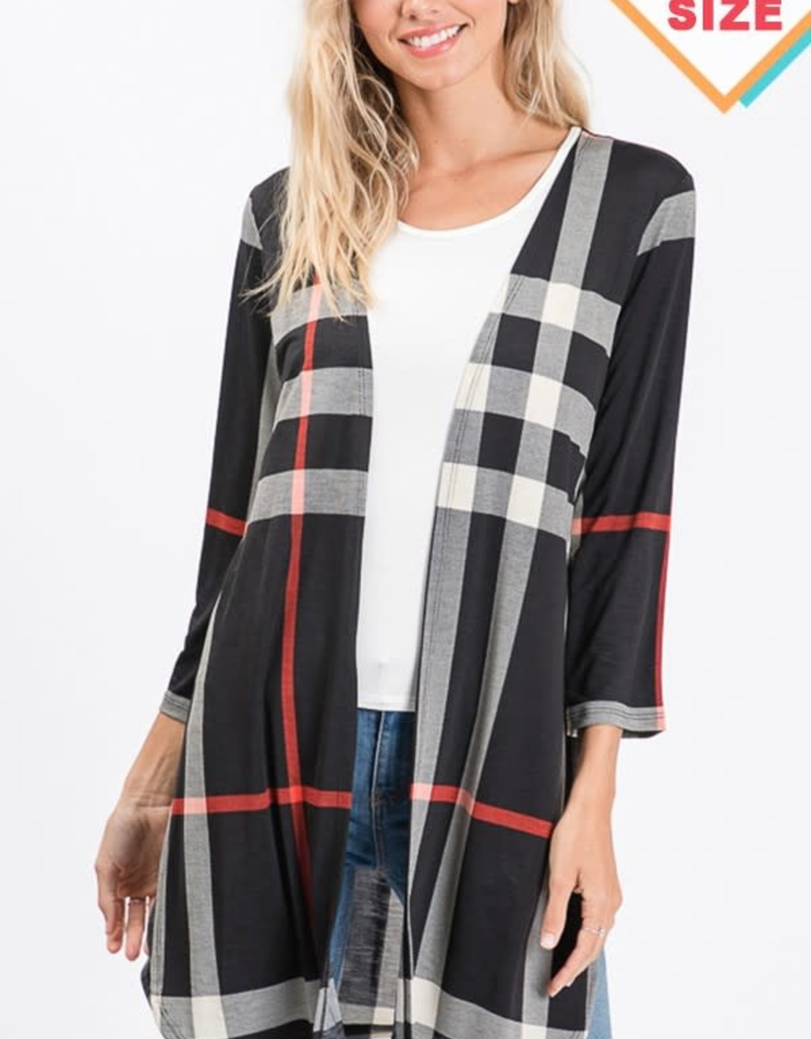 MISCELLANEOUS HEIMISH OPEN PLAID DUSTER