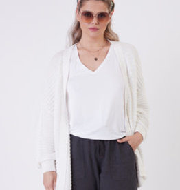 DEX OFF WHITE STITCH CARDIGAN 1777251