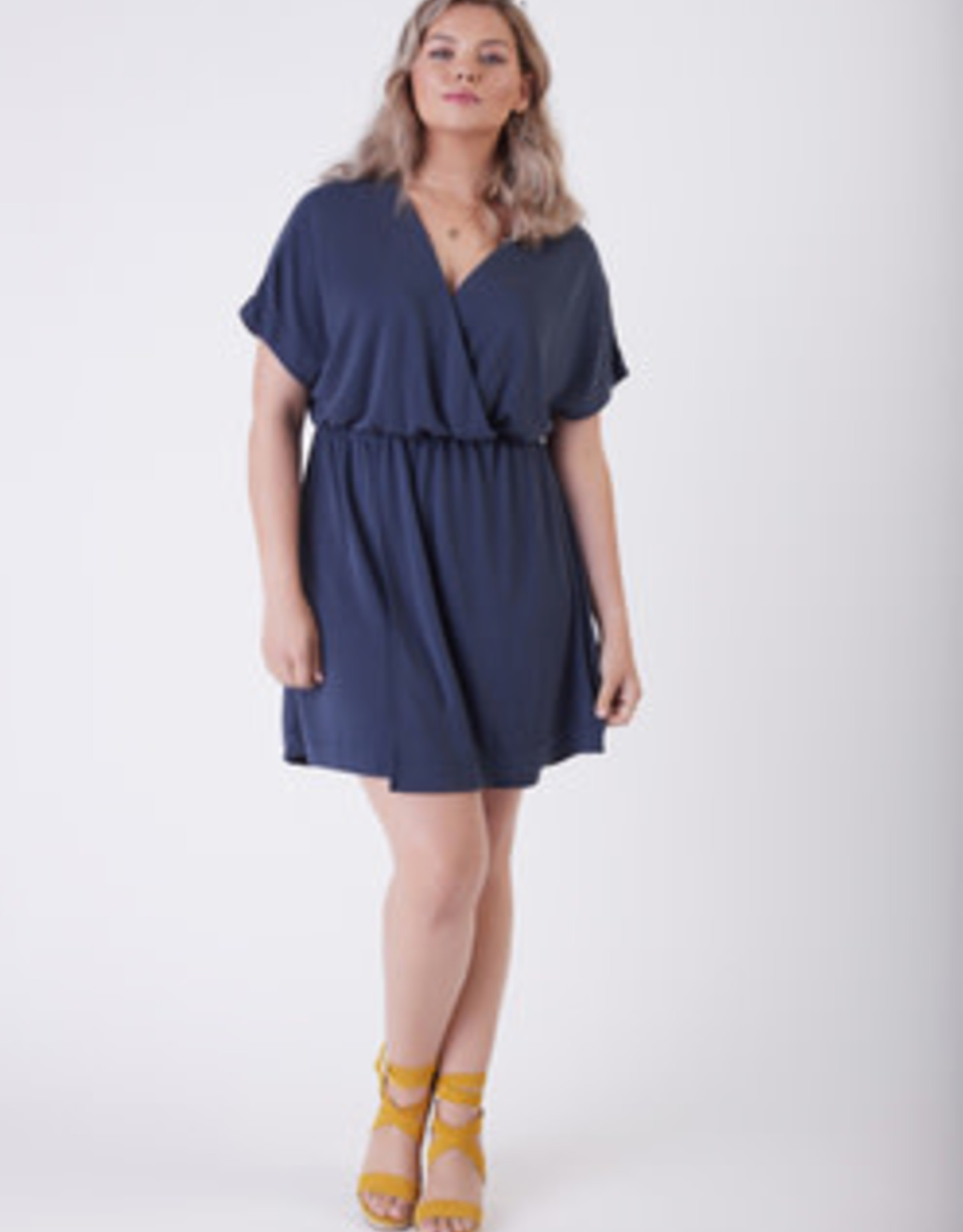 DEX INDIGO WRAP DRESS 1772021