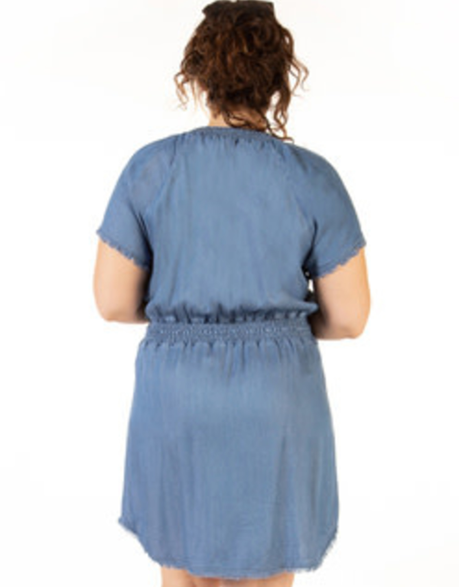 DEX FRAYED HEM DRESS 1772253