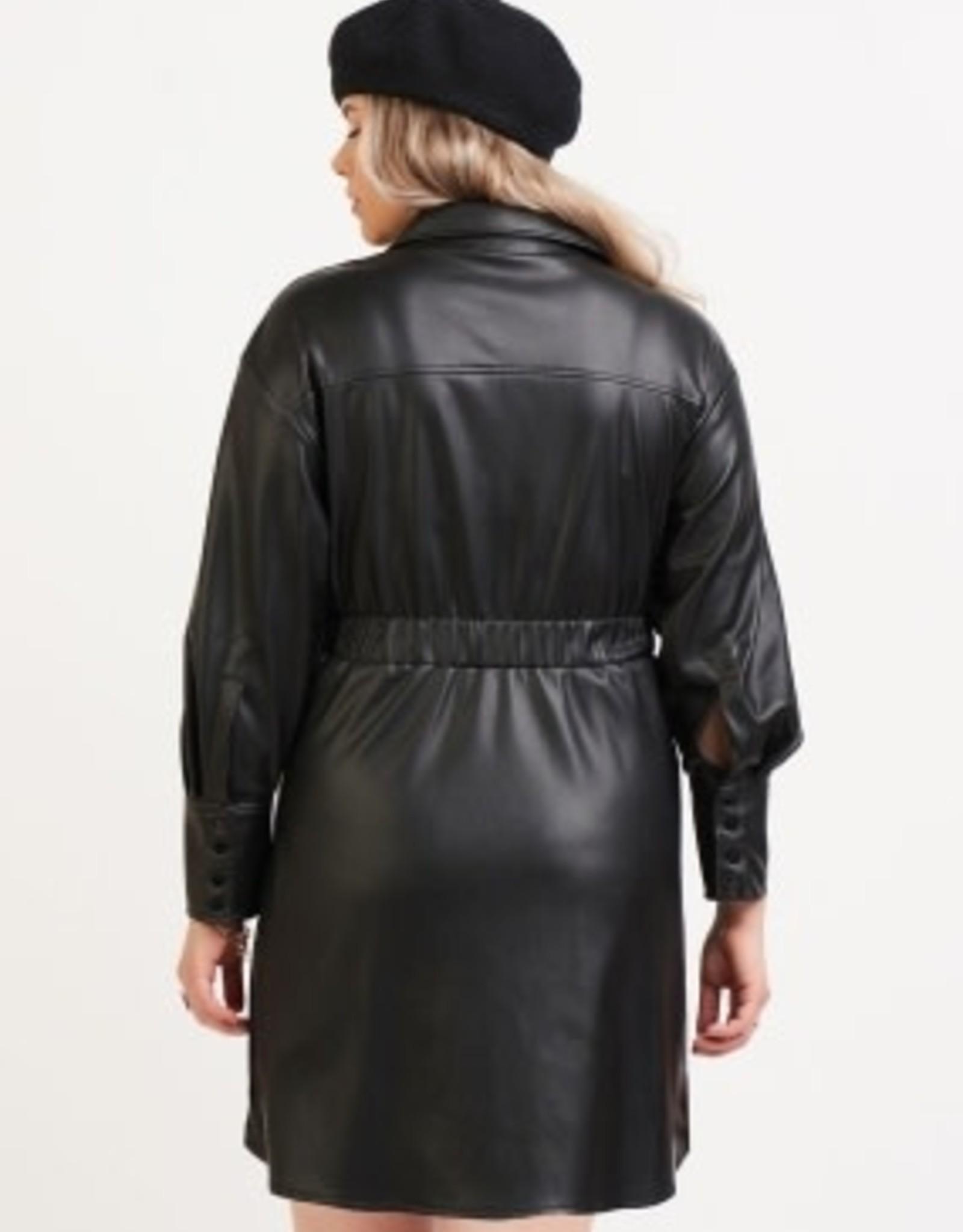 DEX PLEATHER SHIRT DRESS 1872001