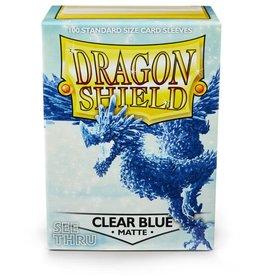 Arcane Tinmen Dragon Shields: (100) Matte Clear Blue