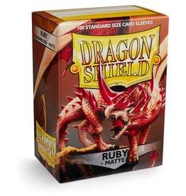 Arcane Tinmen Dragon Shields: (100) Matte Ruby