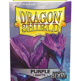Arcane Tinmen Dragon Shields: (100) Non Glare Matte Purple