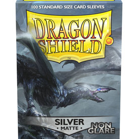 Arcane Tinmen Dragon Shields: (100) Non Glare Matte Silver