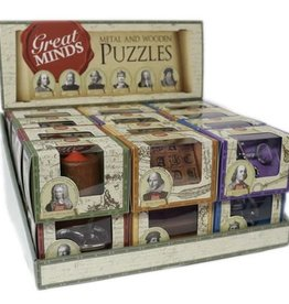 Professor Puzzle Great Minds Metal and Wooden Puzzle Asst.