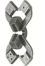Bepuzzled Chain - Hanayama Cast Metal Puzzle (Level 6)