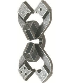 Bepuzzled Chain - Hanayama Cast Metal Puzzle (Level 6)