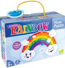 Peaceable Kingdom Shimmery Rainbow Floor Puzzle