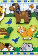 Melissa & Doug Chunky Wooden Puzzle Pets