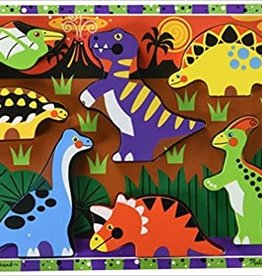 Melissa & Doug Chunky Wooden Puzzle Dinosaurs