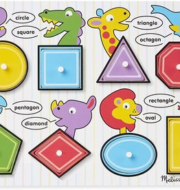 Melissa & Doug Lift & See Shapes Wooden Puzzle
