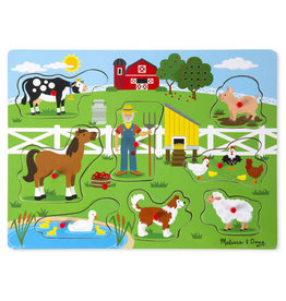 Melissa & Doug Old MacDonald's Farm Song Peg Puzzle