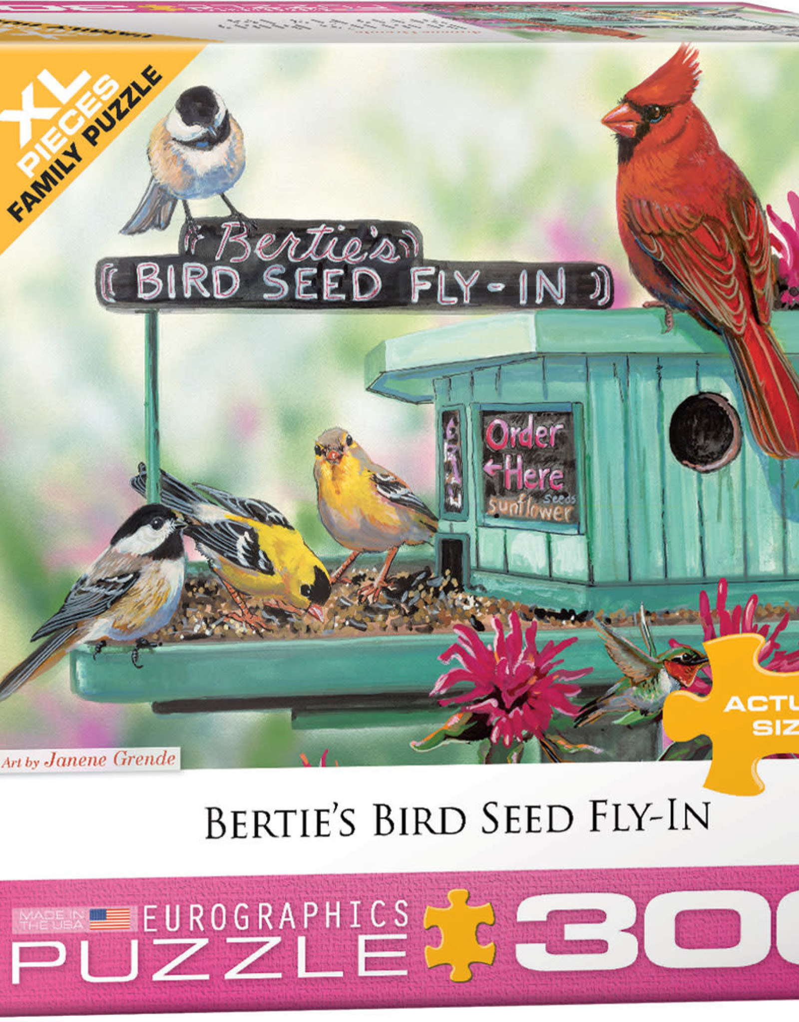Eurographics Inc Bertie's Bird Seed Fly-In 300pc Puzzle
