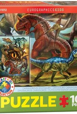Eurographics Inc Carnivorous Dinosaurs 100pc Puzzle