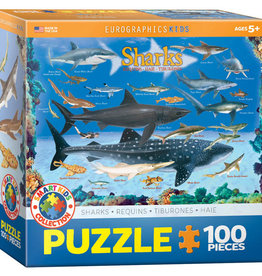 Eurographics Inc Sharks 100pc Puzzle