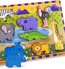 Melissa & Doug Chunky Wooden Puzzle Safari Pets