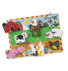 Melissa & Doug Chunky Wooden Puzzle Farm Animals